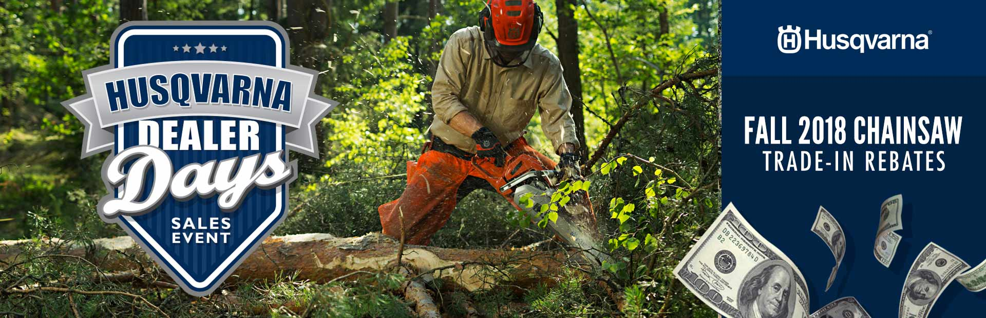 Husqvarna: Fall 2018 Chainsaw Trade-In Rebates